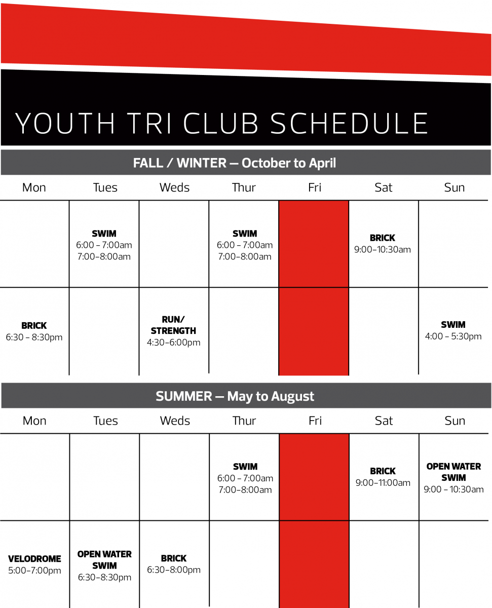 Youth Tri Club Schedule